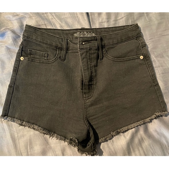 Washed Black Wild Fable Jean Shorts